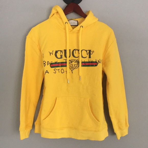 ae78ad7c927 Gucci Tops - 🐯GUCCI yellow hoodie ⚡️
